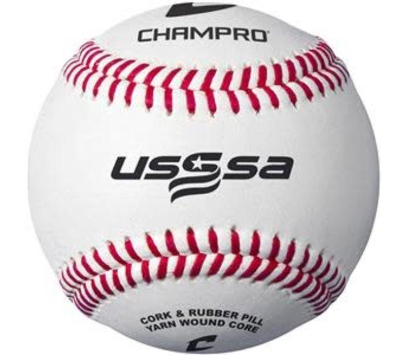 USSSA Game Baseballs - Full Grain Leather Cover (Dozen)