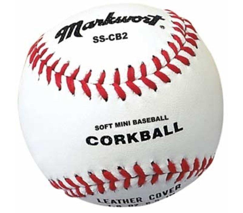 Soft Safe Corkball Style Mini-Baseball - White