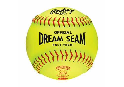 "Rawlings NFHS Dream Seam 12"" Softball - 1 Dozen"