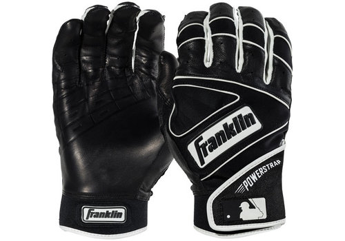 Franklin Adult Powerstrap Chrome Batting Gloves