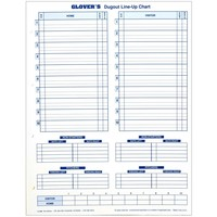 Glover's Dugout Line Up Chart