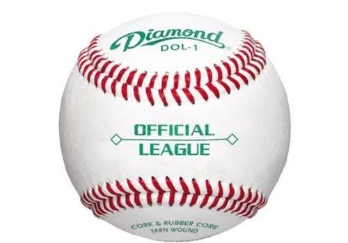 Diamond Official League Youth Game & Highschool Practice Ball DOL-1 OL 1 Dozen