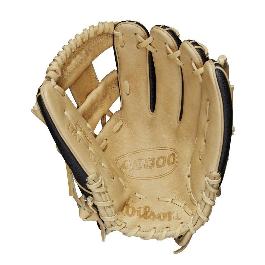 """Wilson A2000 1787SS 11.75"""" Blk/Blonde Infield Baseball Glove"""