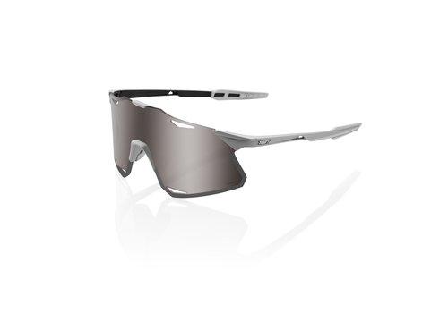 100% Hypercraft Matte Stone Grey - HiPER Silver Mirror Lens Sunglasses