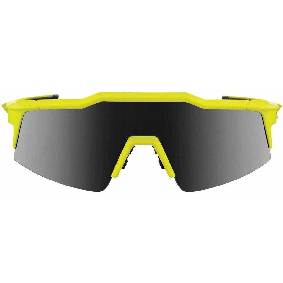 100% Speedcraft SL Soft Tact Banana - Black Mirror Lens Sunglasses