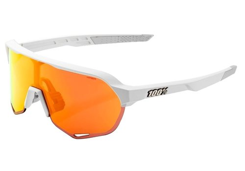 100% S2 Soft Tact Off White - HiPER Red Multilayer Mirror Lens Sunglasses