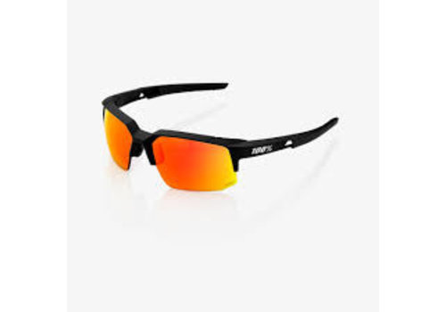 100% Speedcoupe Soft Tact Black - HiPER Red Multilayer Mirror Lens Sunglasses