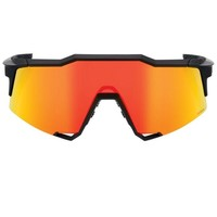 100% Speedcraft Soft Tact Black - HiPER Red Multilayer Mirror Lens Sunglasses