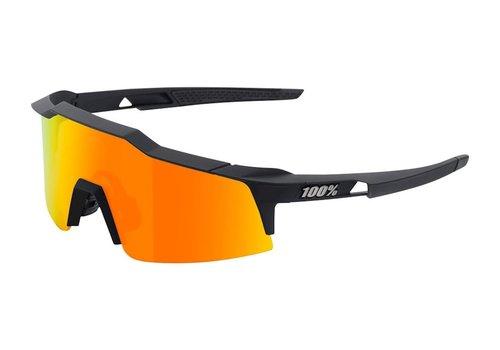 100% Speedcraft SL Soft Tact Black - HiPER Red Multilayer Mirror Lens Sunglasses