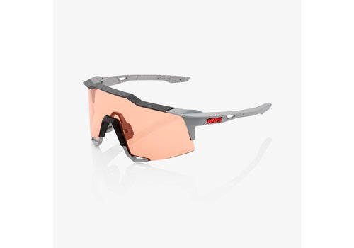 100% Speedcraft Soft Tact Stone Grey HiPER® Coral Lens + Clear Lens Included Sunglasses
