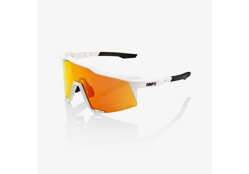 100% Speedcraft Soft Tact Off White - HiPER Red Multilayer Mirror Lens Sunglasses