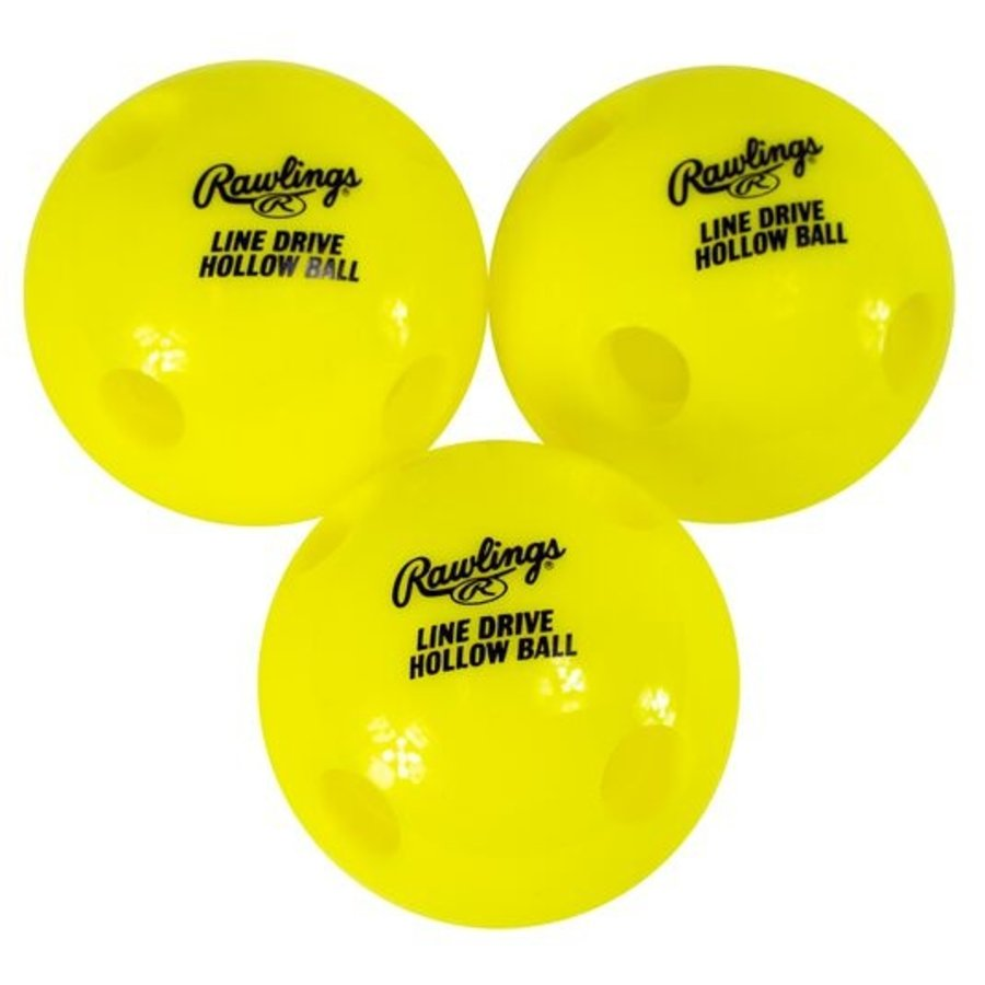 Rawlings Line-Drive Hollow Ball (3pk)