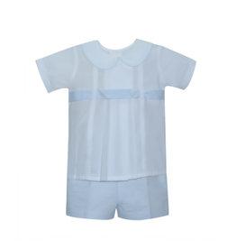 LullabySet Benton White Short Set