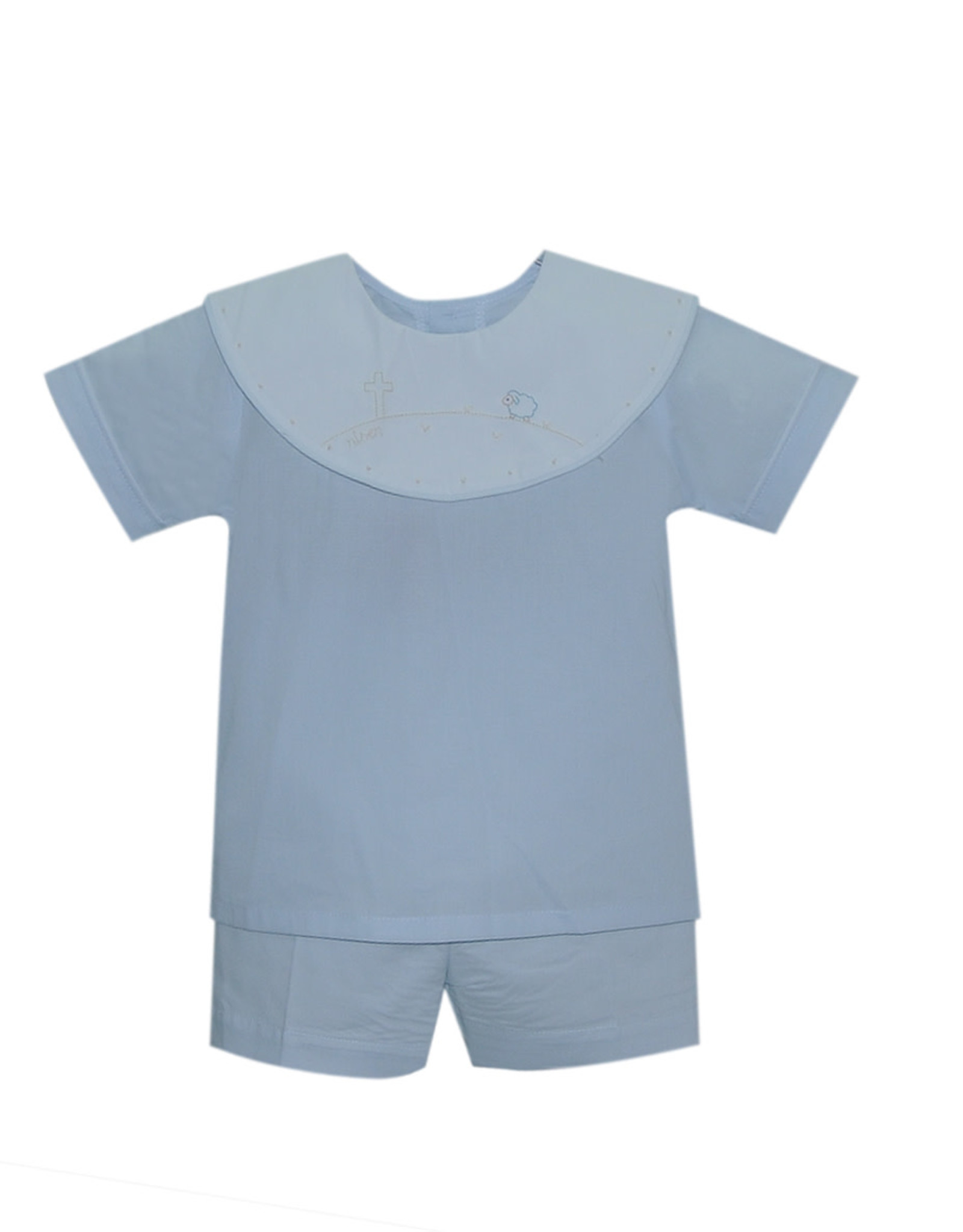 LullabySet Oliver Risen Blue Short Set