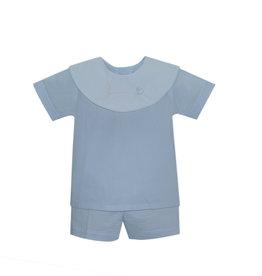 LullabySet Oliver Risen Blue Short Set
