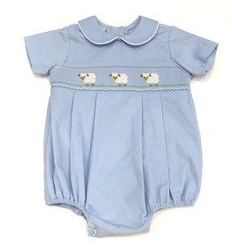 Petit Bebe Lambs Boy Bubble Light Blue Corduroy