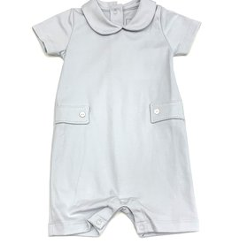 Lila and Hayes Boys Light Blue Romper