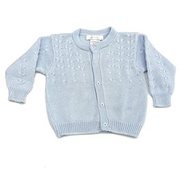 Cuclie Baby Blue Braid Caridgan
