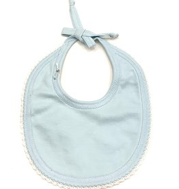 Squiggles Blue Bib With White Trim
