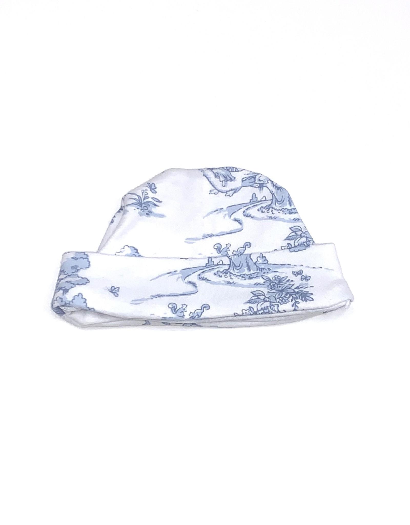 Maison Nola Toile Hat Blue