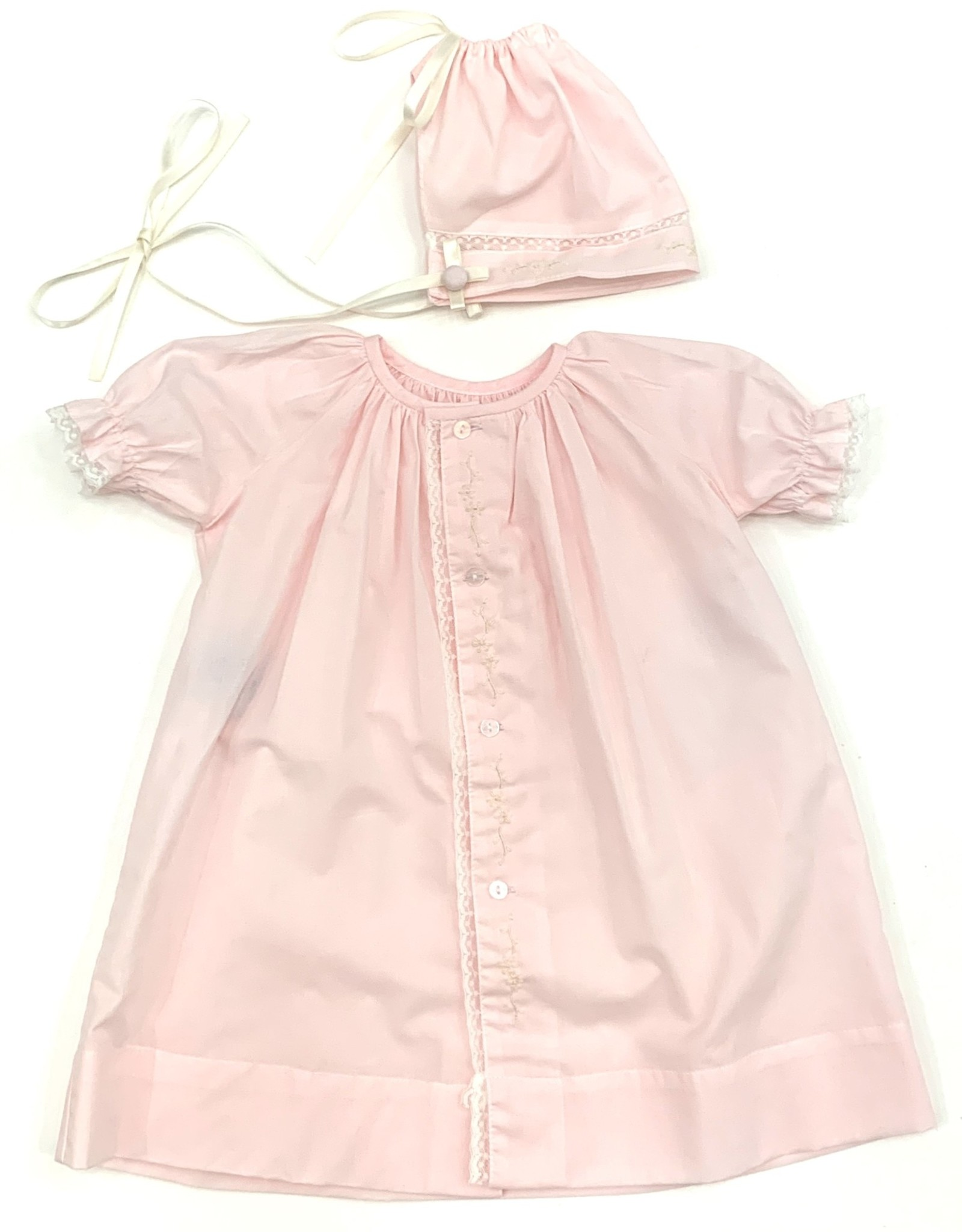 LullabySet Pink Vintage Bubble With Hat