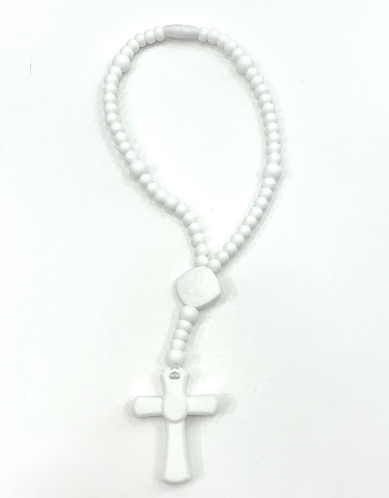 Beads of  Grace Teething Rosary White Large