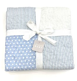 Stephan Baby Quilt Blue Dot Boy