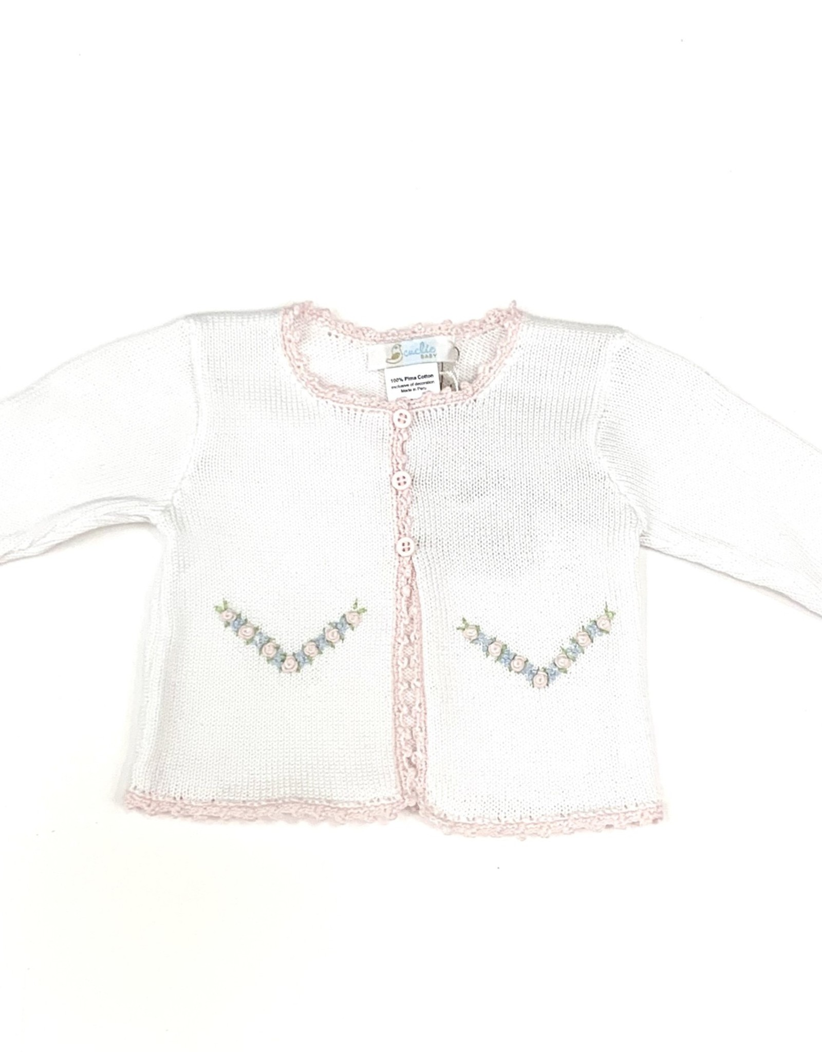 Cuclie Baby Pink and Blue Cardigan