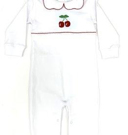 Little English Cherry Crochet Playsuit