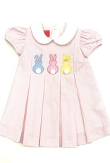 Claire and Charlie Cottontails Pink Stripe Seersucker Dress