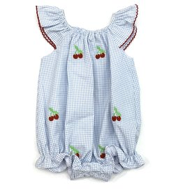 Zuccini Embroidery Cherry Angel Sleeve Bubble