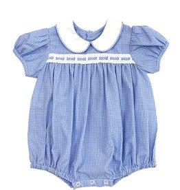 LullabySet Girl Bubble Light Blue Mini Gingham