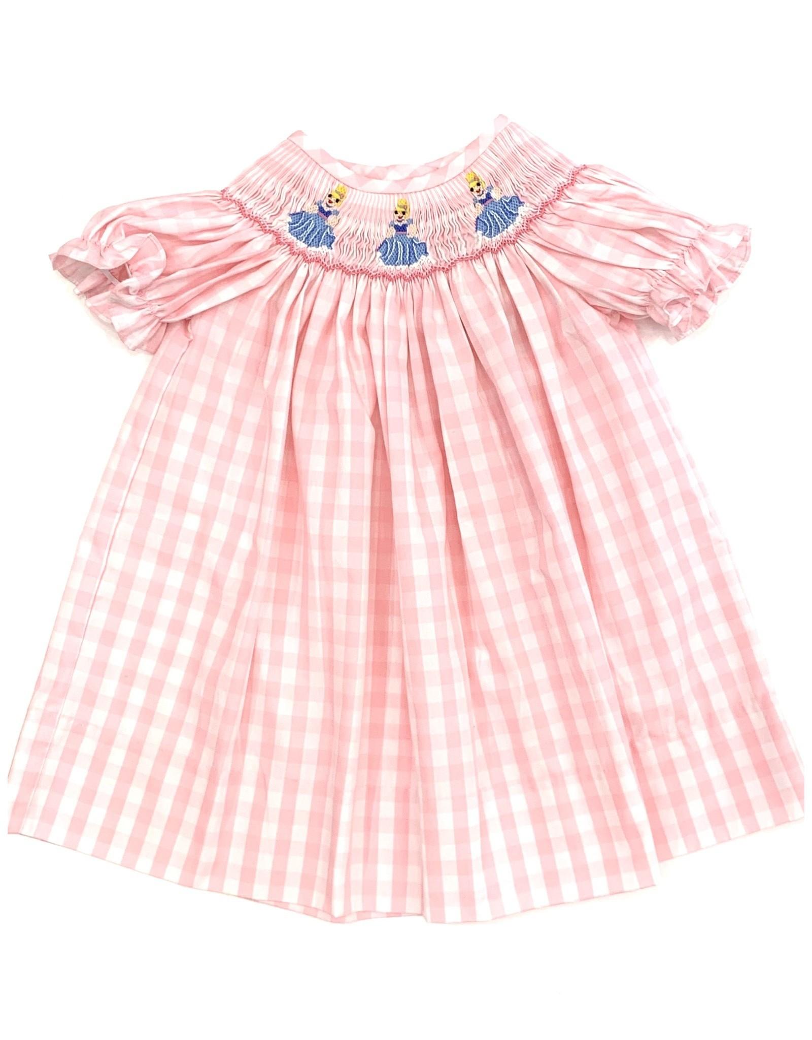 Pink Check Princess Bishop Dress