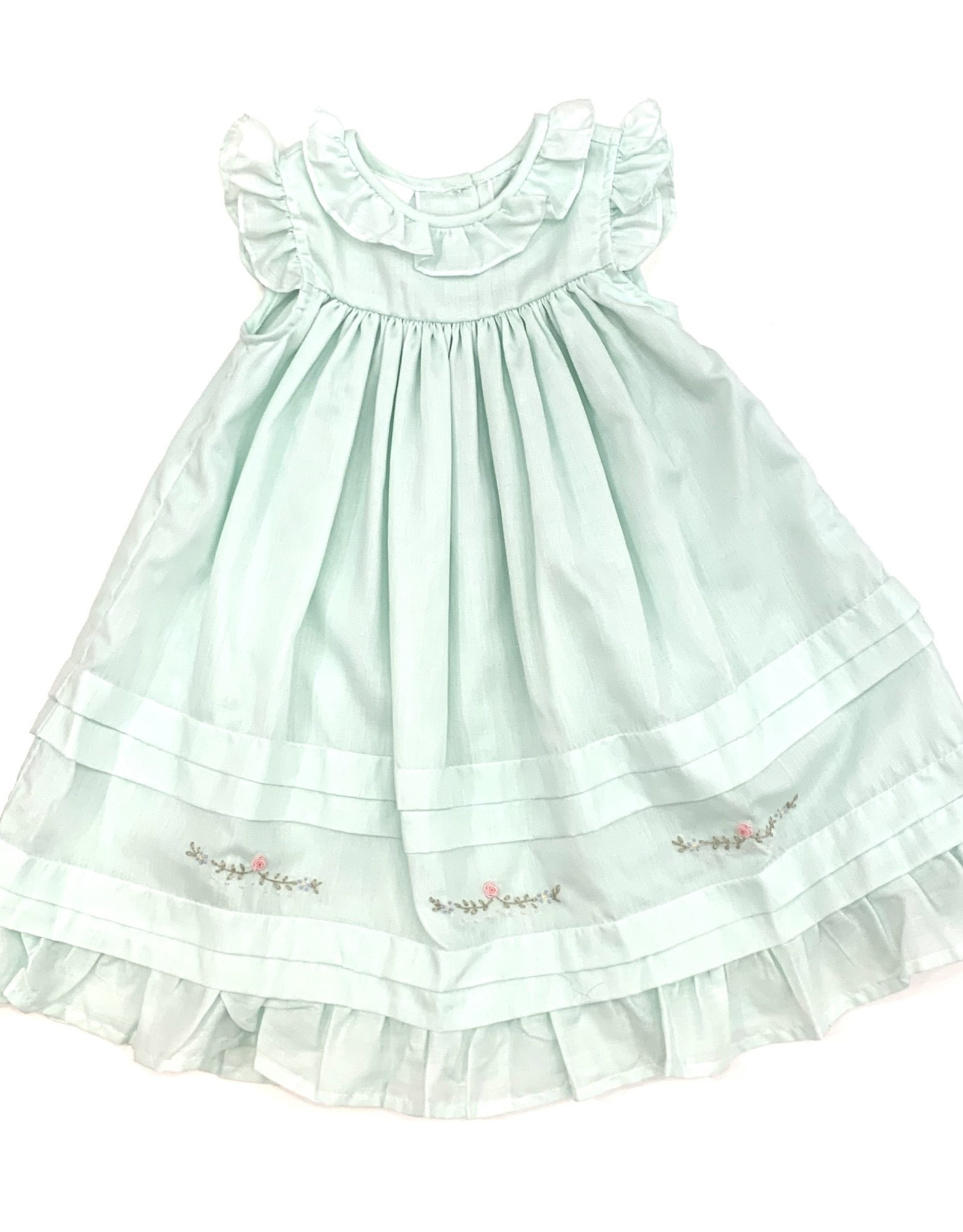 The Bailey Boys Mint Pin Tuck Dress