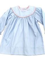 LullabySet Girls Blue and White Polka Dot Dress