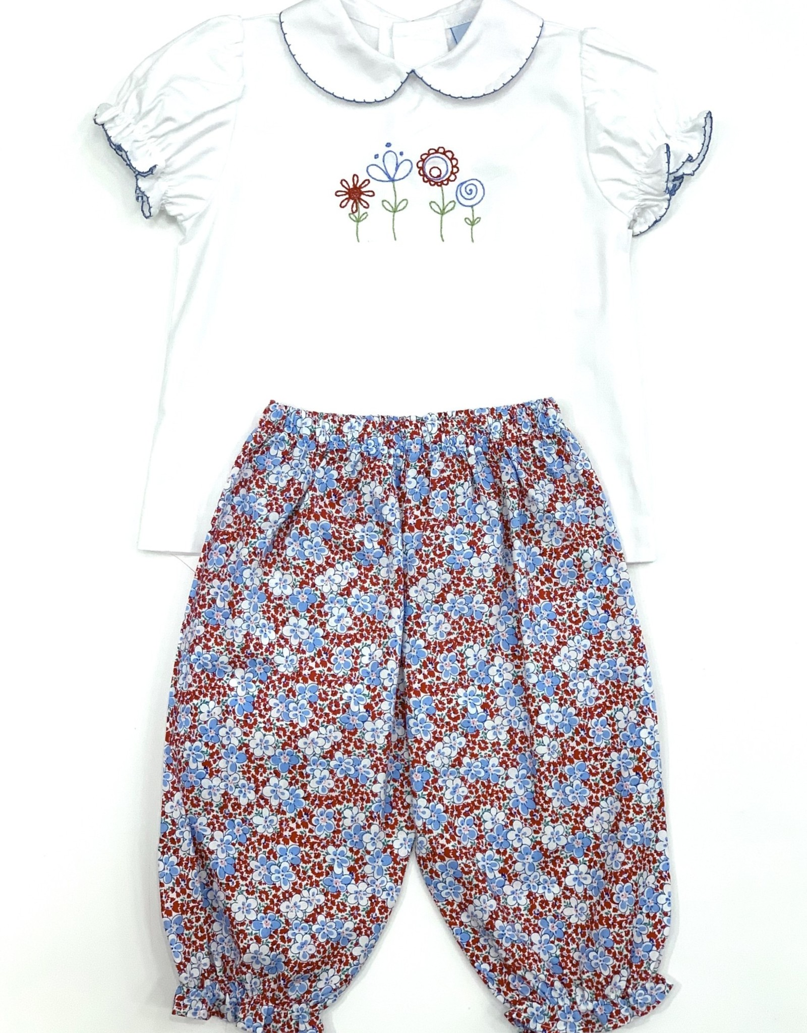 The Bailey Boys Peri Flower Girls Pant Set
