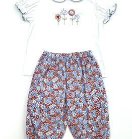 The Bailey Boys Peri Flower Girls Pant Set