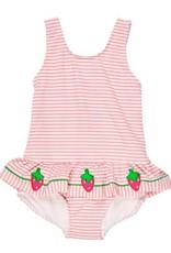 Florence Eiseman Strawberry seersucker tank swimsuit