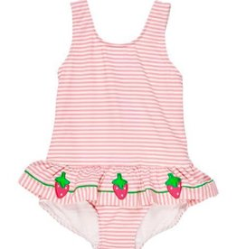 Florence Eiseman Strawberry Seersucker Tank Swimsuit
