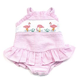 The Bailey Boys Flamingos 1 Piece Swim With Ruffle