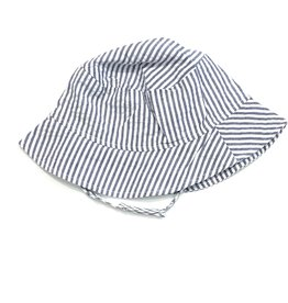 Flap Happy Boys Navy and White Bucket Hat