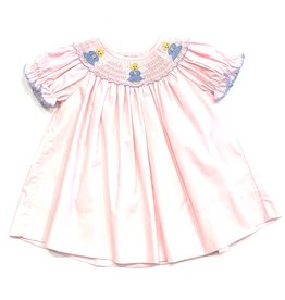Petit Bebe Angels Bishop Short Sleeve Light Pink Poplin