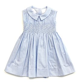 Pixie Lilly Blue Gingham Smocked Dress