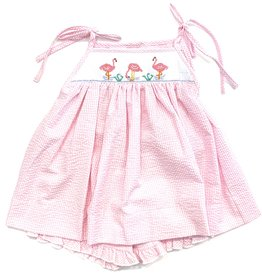 The Bailey Boys Flamingos Tie Short Set