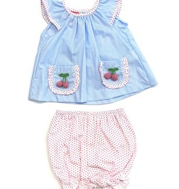 Claire and Charlie Pink Cherry Bloomer Set