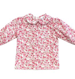 The Bailey Boys Pink/Green Floral Button Back Blouse