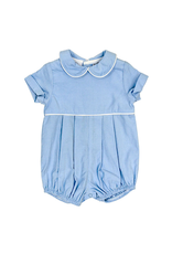 The Bailey Boys Light Blue Cord Dressy Bubble Short Sleeve