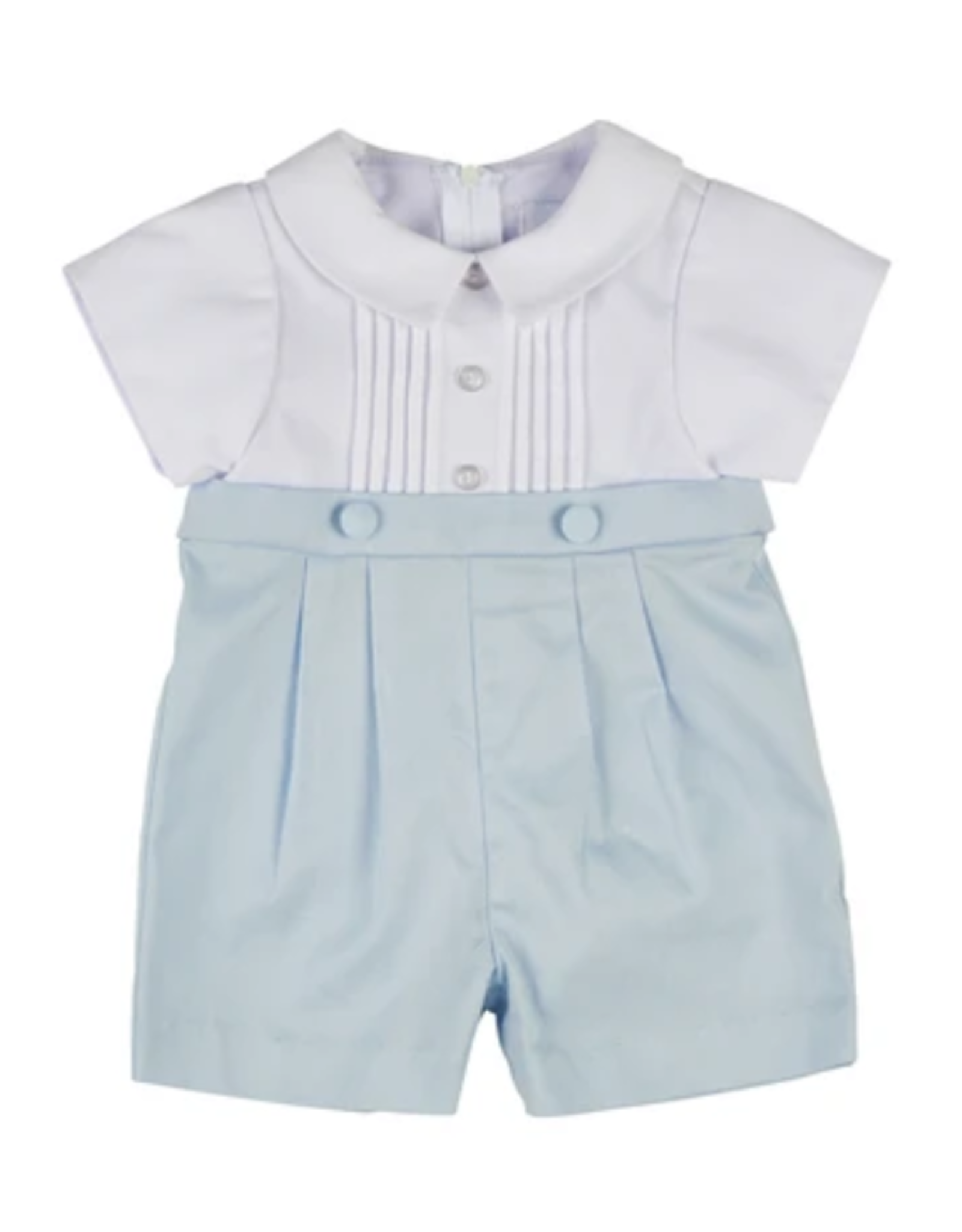 Florence Eiseman Boys shortall white/blue