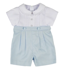Florence Eiseman Boys Shortall White/Blue