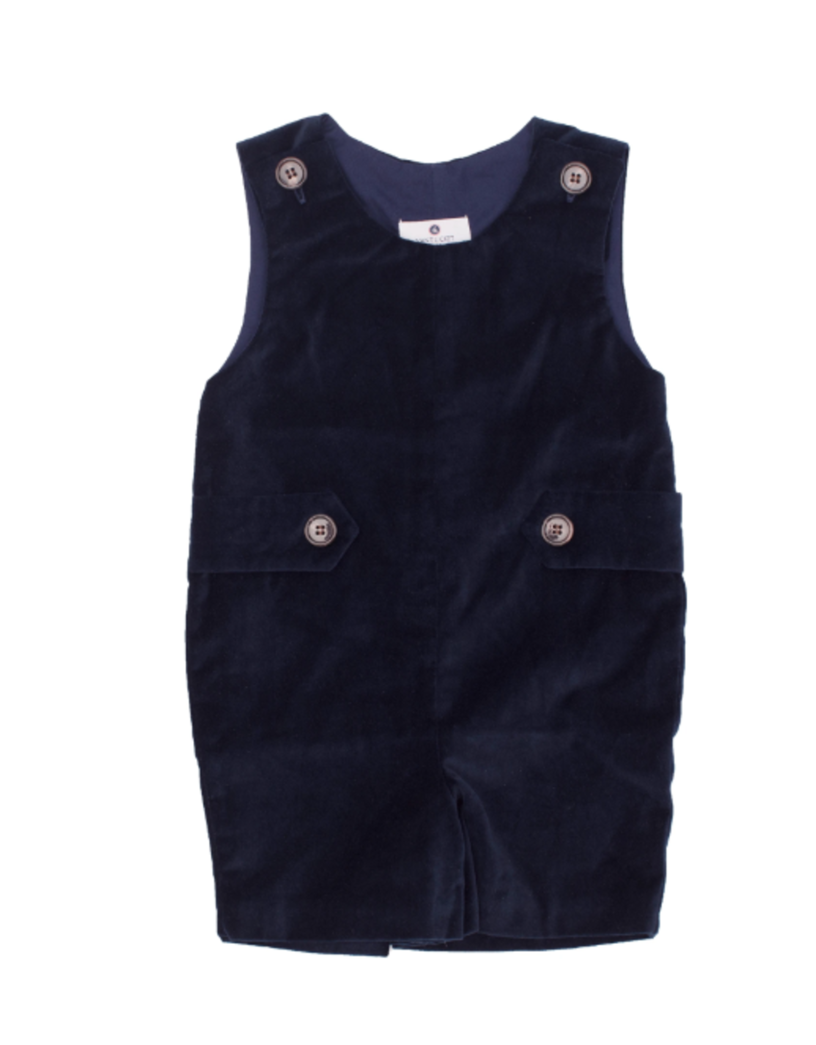 Nantucket Kids Kennedy Jon Jon Nautical Navy Velveteen 3-6m